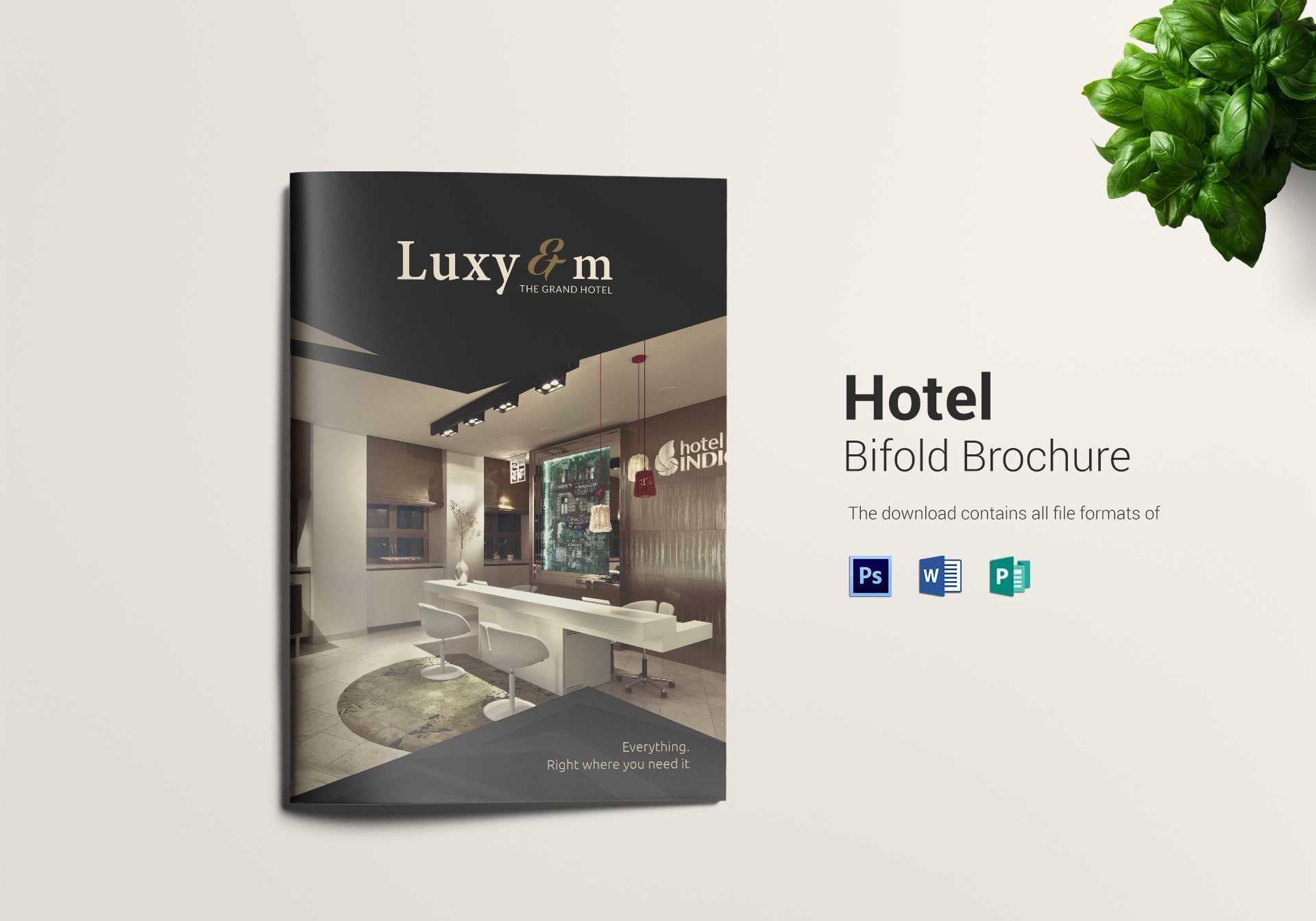 Hotel And Motel Bi Fold Brochure Template regarding Hotel Brochure Design Templates