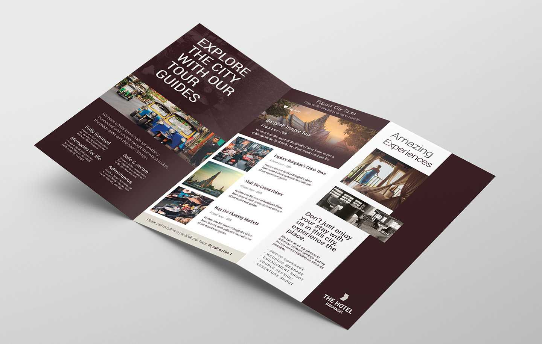 Hotel Tri-Fold Brochure Template V2 - Psd, Ai & Vector pertaining to Hotel Brochure Design Templates