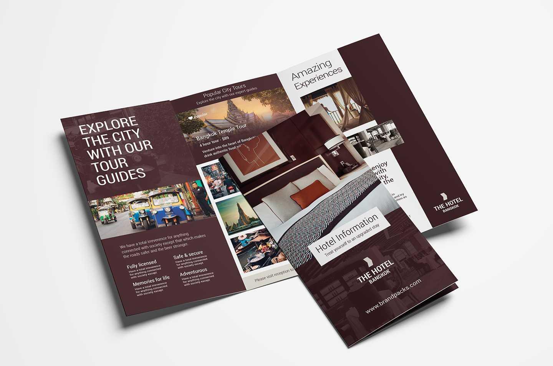 Hotel Tri Fold Brochure Template V2 - Psd, Ai & Vector Throughout Hotel Brochure Design Templates