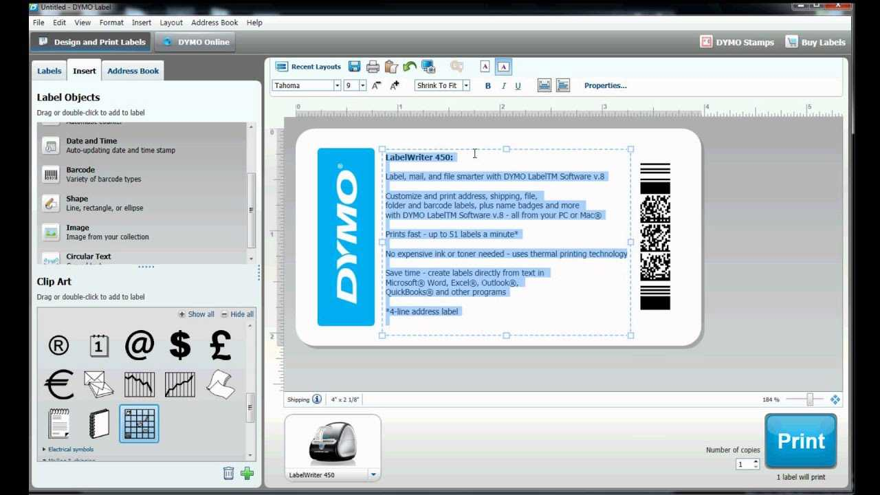How To Build Your Own Label Template In Dymo Label Software? Inside Dymo Label Templates For Word