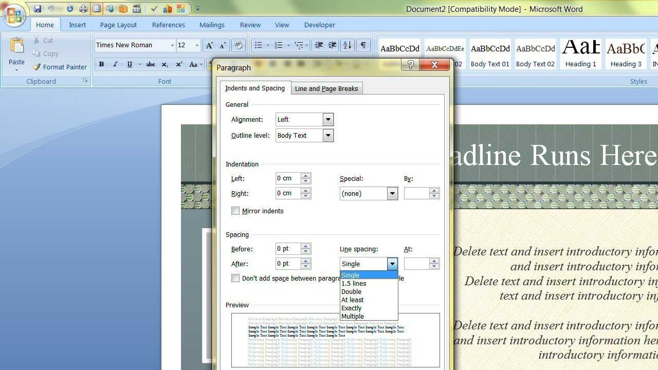 How To Change The Default Template In Microsoft Word With Change The Normal Template In Word 2010
