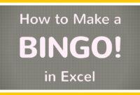 How To Create A Bingo Board Using Excel / Make Bingo Game In Excel Tutorial pertaining to Blank Bingo Card Template Microsoft Word