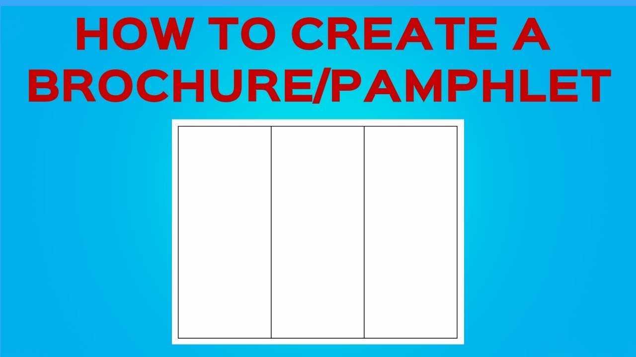 How To Create A Brochure/pamphlet On Google Docs regarding Google Docs Templates Brochure