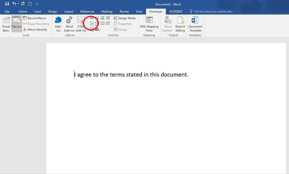 How To Create A Fillable Form In Word For Windows within Word 2010 Templates And Add Ins