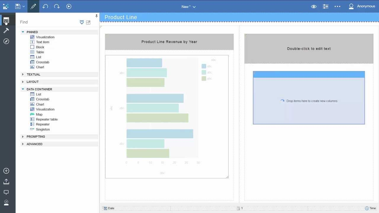How To Create A Report (Basic) In Ibm Cognos Analytics with Cognos Report Design Document Template