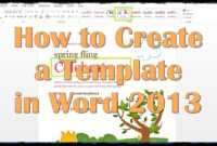 How To Create A Template In Word 2013 for How To Insert Template In Word