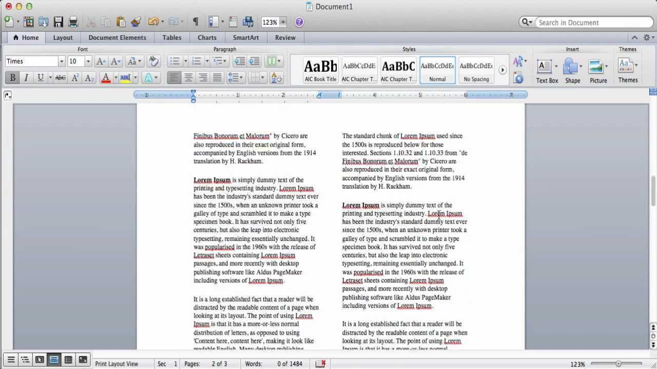 How To Create Columns In Microsoft Word with 3 Column Word Template