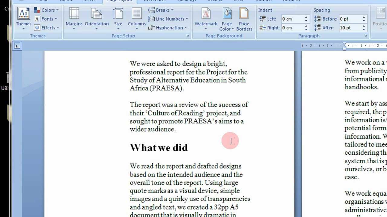 How To Create Printable Booklets In Microsoft Word 2007 & 2010 Stepstep  Tutorial Regarding Booklet Template Microsoft Word 2007