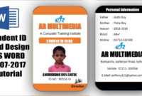 How To Create Professional Student Id Card In Ms Word 2013|Two Part Id Card  Design Microsoft Word throughout Sample Of Id Card Template