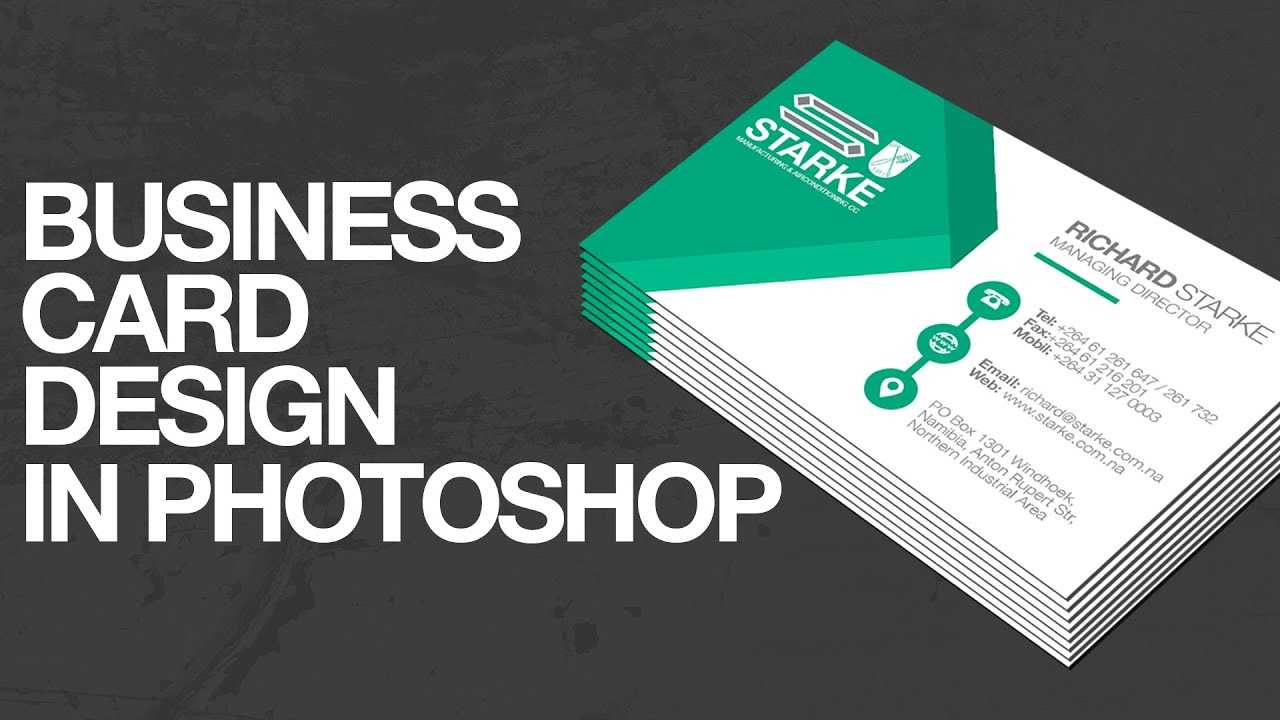 How To Design A Business Card In Photoshop With Regard To Create Business Card Template Photoshop