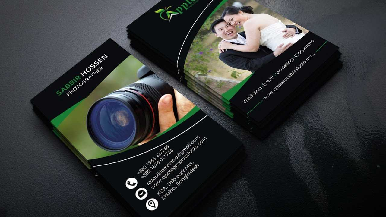How To Design A Photography Business Card | Photoshop Tutorial pertaining to Photography Business Card Template Photoshop
