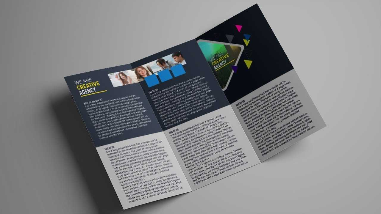 How To Design A Tri Fold Brochure Template - Photoshop Tutorial within Brochure Psd Template 3 Fold