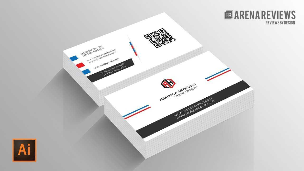 How To Design Business Card Template Illustrator Cc Tutorial Throughout Adobe Illustrator Card Template