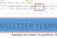 How To Easily Create A Newsletter Template In Microsoft Word with How To Insert Template In Word