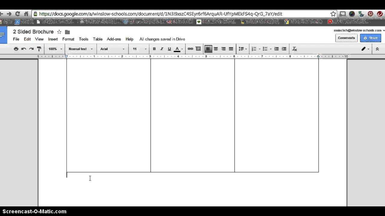 How To Make 2 Sided Brochure With Google Docs Intended For Brochure Template For Google Docs