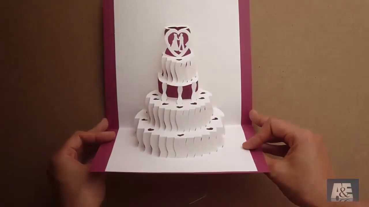 How To Make A Amazing Wedding Cake Pop Up Card Tutorial - Free Template Pertaining To Wedding Pop Up Card Template Free