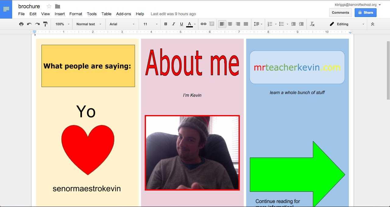 How To Make A Brochure In Google Docs regarding Google Docs Templates Brochure