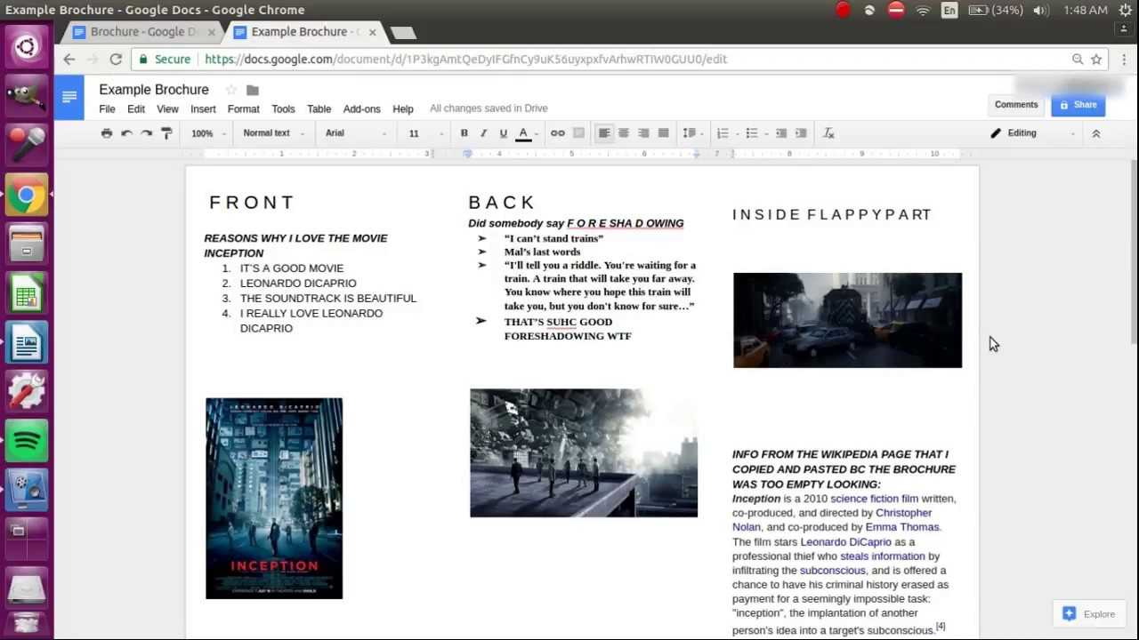 How To Make A Brochure On Google Docs Intended For Science Brochure Template Google Docs