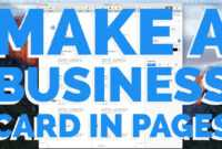 How To Make A Business Card In Pages For Mac (2016) within Business Card Template Pages Mac
