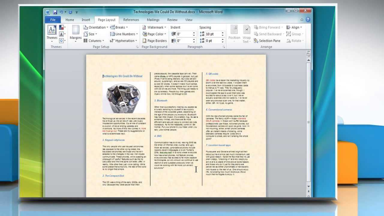 How To Make A Tri Fold Brochure In Microsoft® Word 2007 Pertaining To Brochure Templates For Word 2007