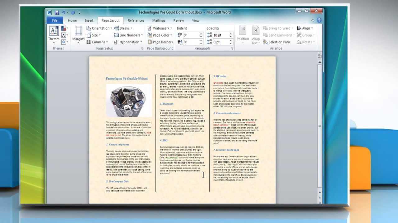 How To Make A Tri-Fold Brochure In Microsoft® Word 2007 within Brochure Template On Microsoft Word