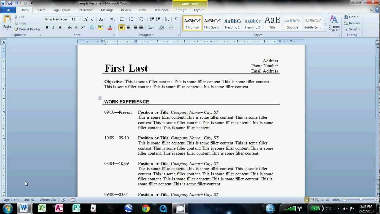 How To Make An Easy Resume In Microsoft Word within How To Find A Resume Template On Word