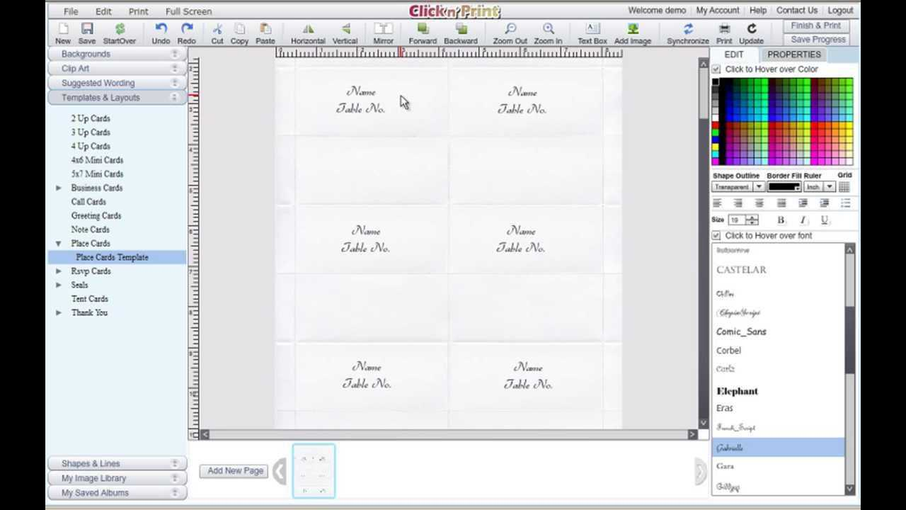 How To Make Place Cards And Rsvp Cards For Free - Geographics in Microsoft Word Place Card Template