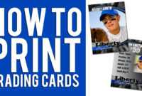 How To Print Custom Trading Cards Tutorial for Custom Baseball Cards Template