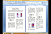 How To Set Two Column Paper For Publication for Scientific Paper Template Word 2010