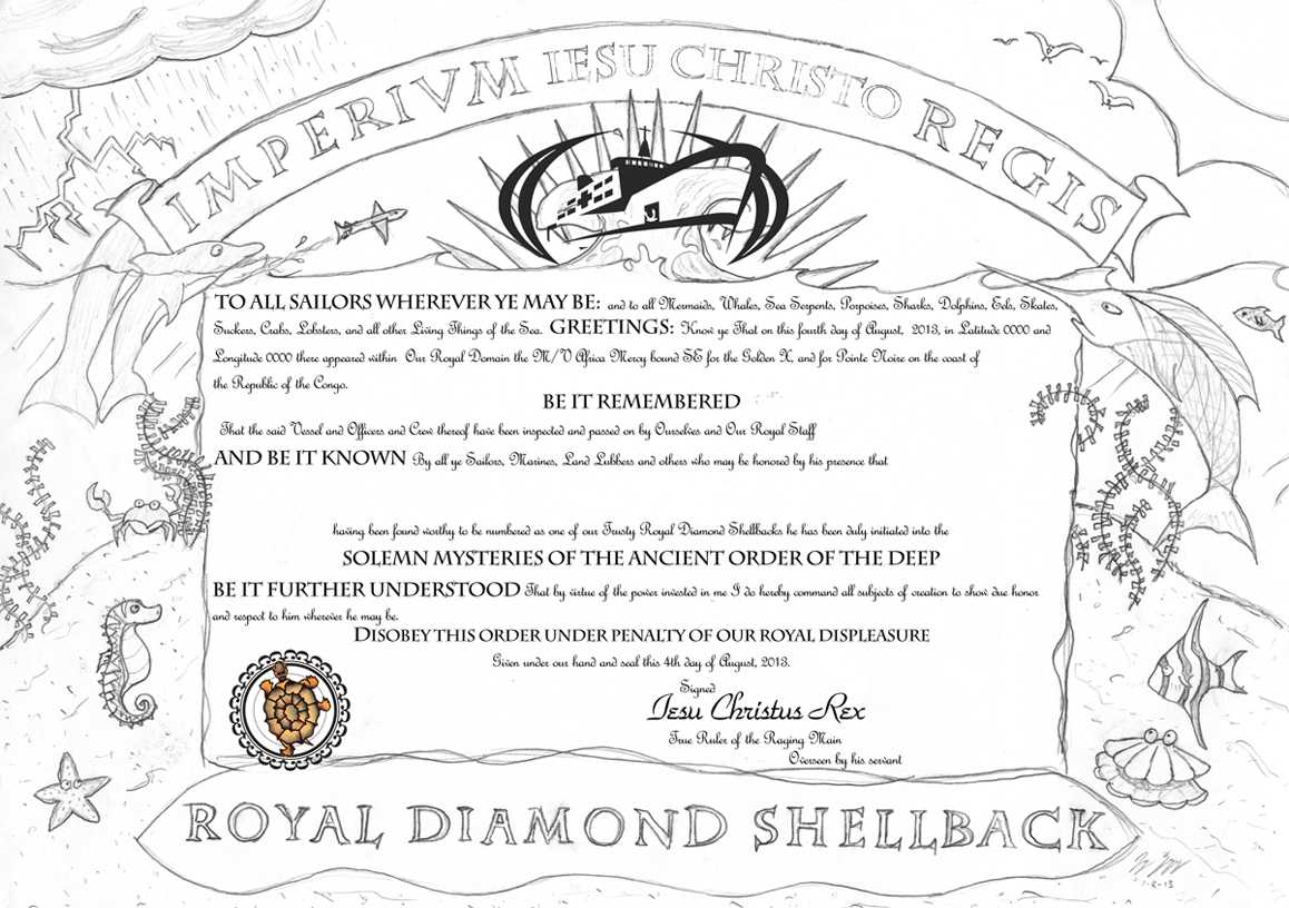 How To Turn Slimy Polliwogs Into Trusty Shellbacks | Jay On in Crossing The Line Certificate Template