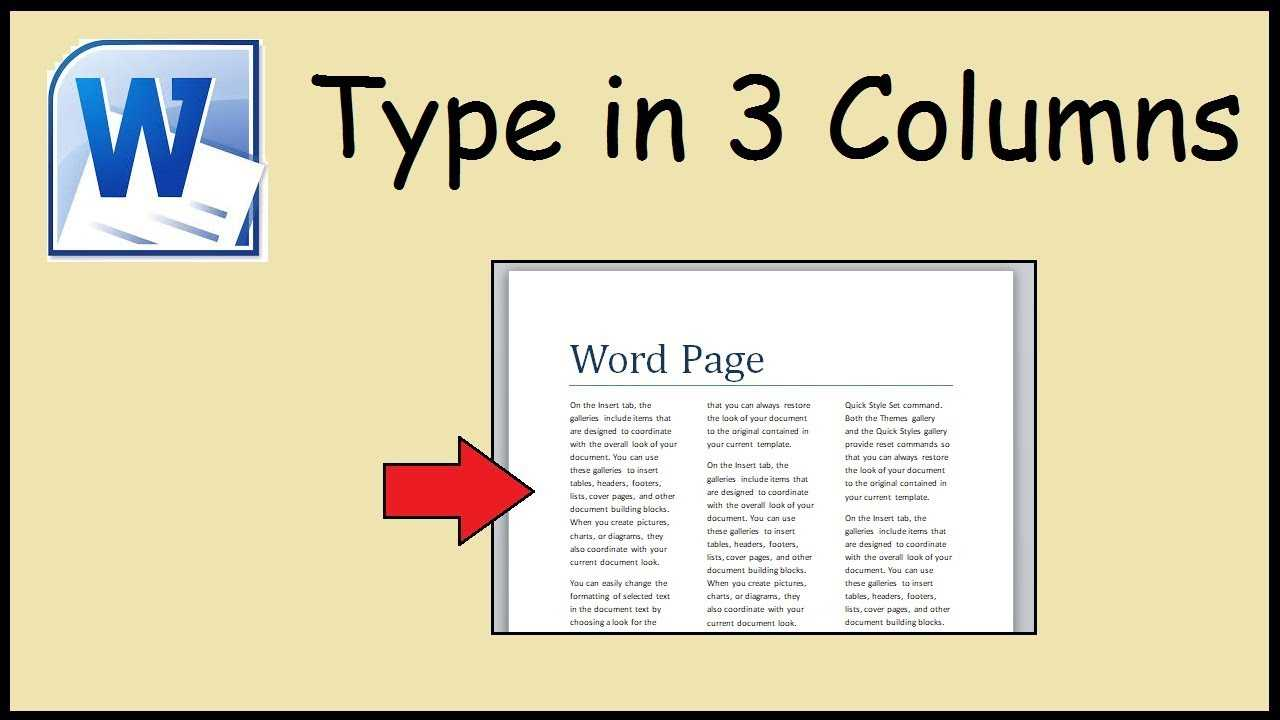 How To Type In 3 Columns Word Pertaining To 3 Column Word Template