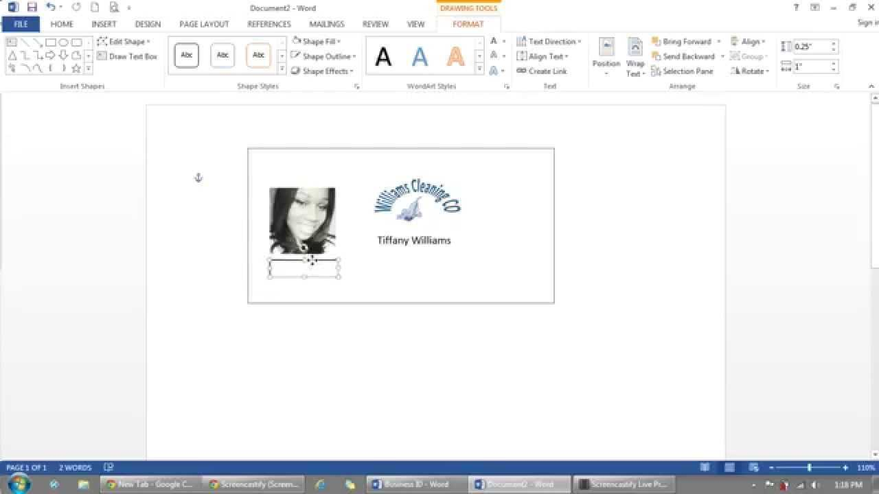 How To Use Microsoft Word To Make Id Badges within Id Badge Template Word