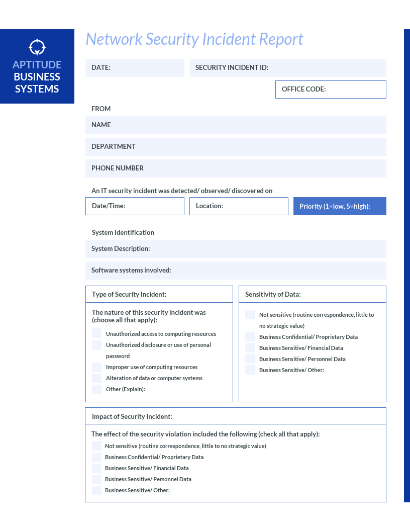 How To Write An Effective Incident Report [Examples + For It Incident Report Template