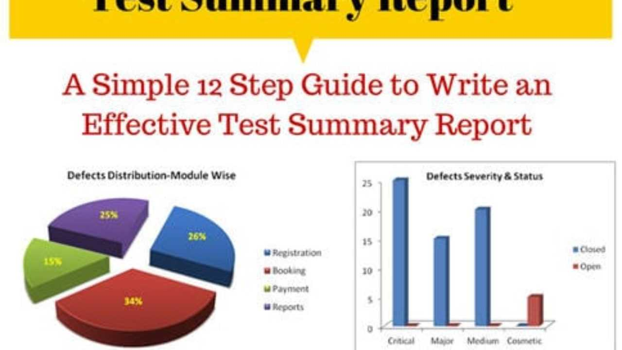 How To Write An Effective Test Summary Report [Download Pertaining To Test Summary Report Excel Template