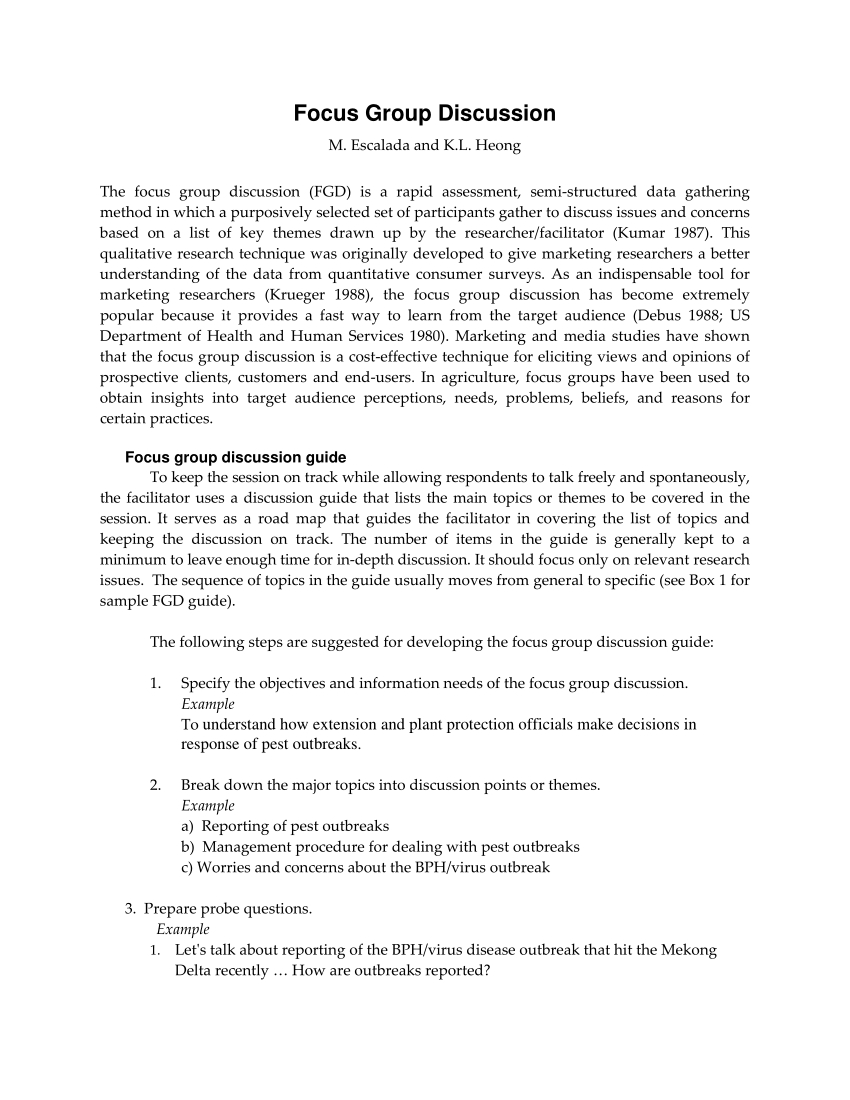 How To Write Up Focus Group In Dissertation Pdf Discussion A with regard to Focus Group Discussion Report Template