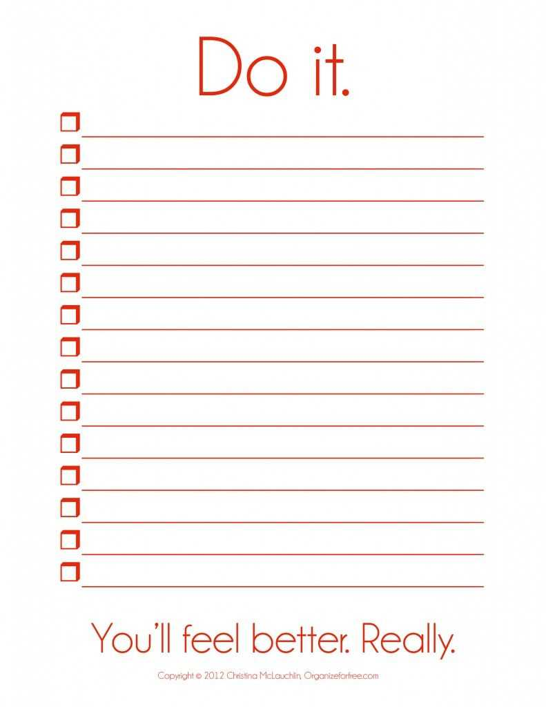 I So Need This! ~ Things To Do Template Pdf | Free Printable Intended For Blank To Do List Template