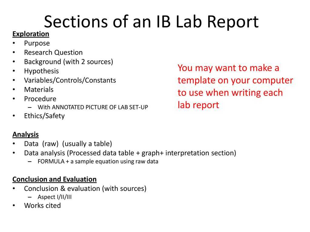 Ib Biology Lab Report Guidelines - Ppt Download within Ib Lab Report Template