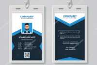 Id Card Design Template — Stock Vector © Bonezboyz #259442500 regarding Company Id Card Design Template