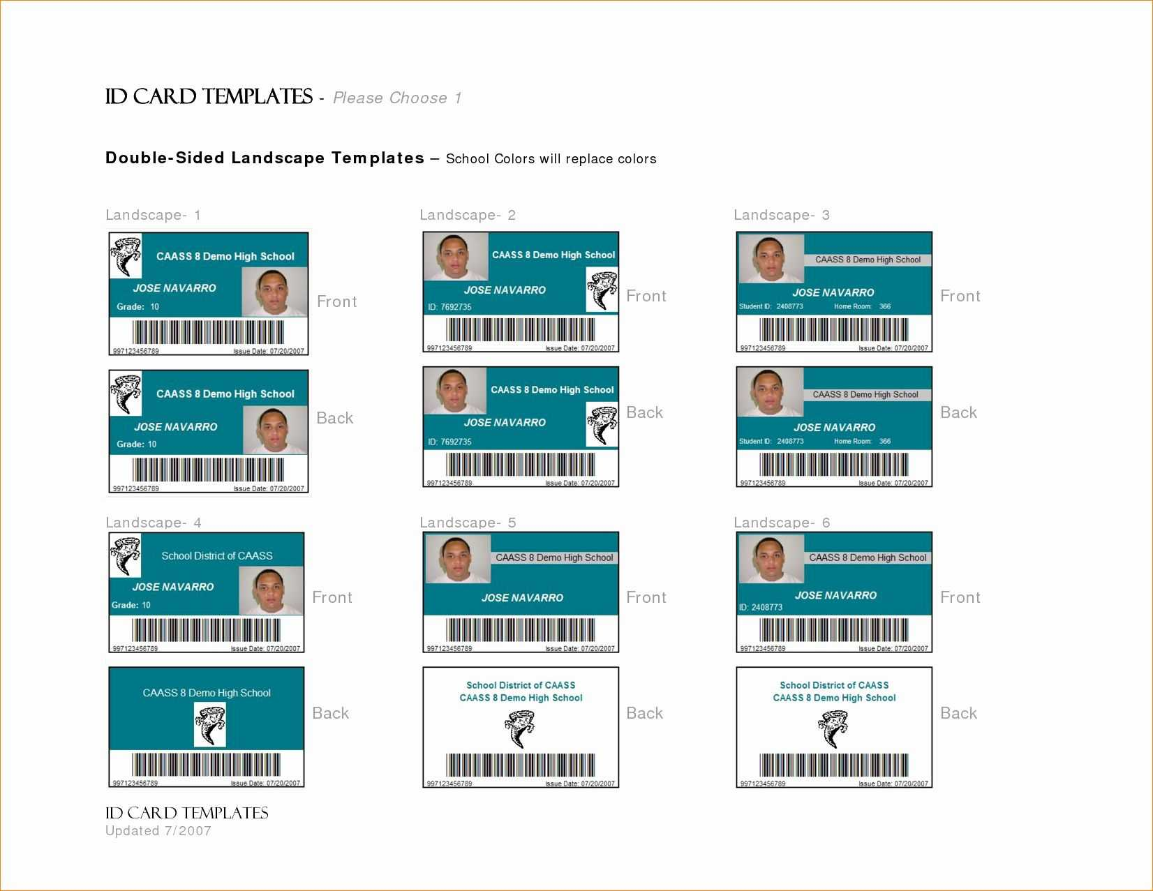 Id Card Template Word Lovely 7 Id Card Template Word   30 Id with regard to Id Badge Template Word