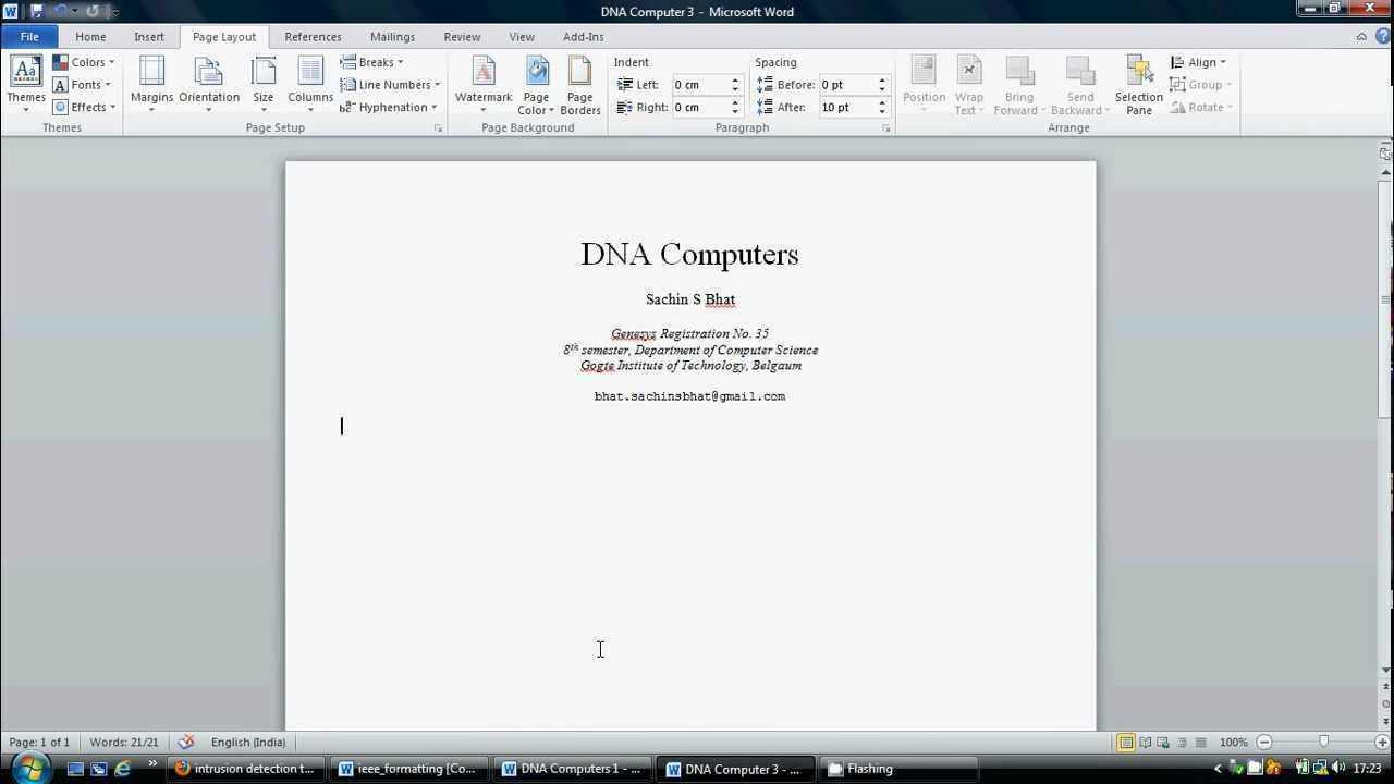 Ieee Paper Formatting Tutorialsb.flv inside Ieee Template Word 2007
