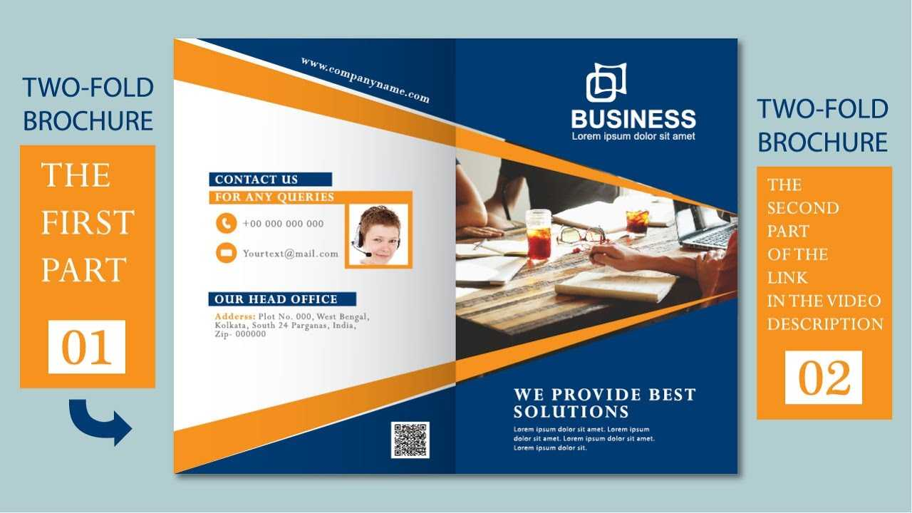 Illustrator Tutorial - Two Fold Business Brochure Template Part 01 for 2 Fold Brochure Template Free