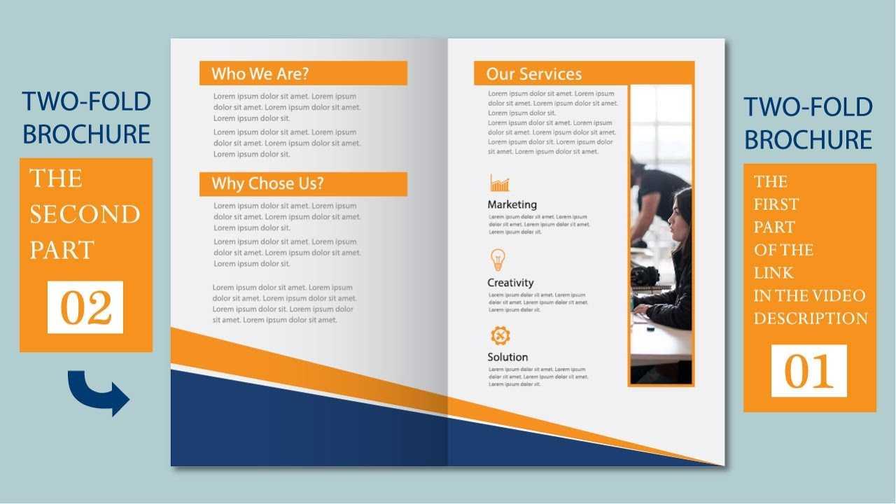 Illustrator Tutorial - Two Fold Business Brochure Template Part 02 in 2 Fold Brochure Template Free
