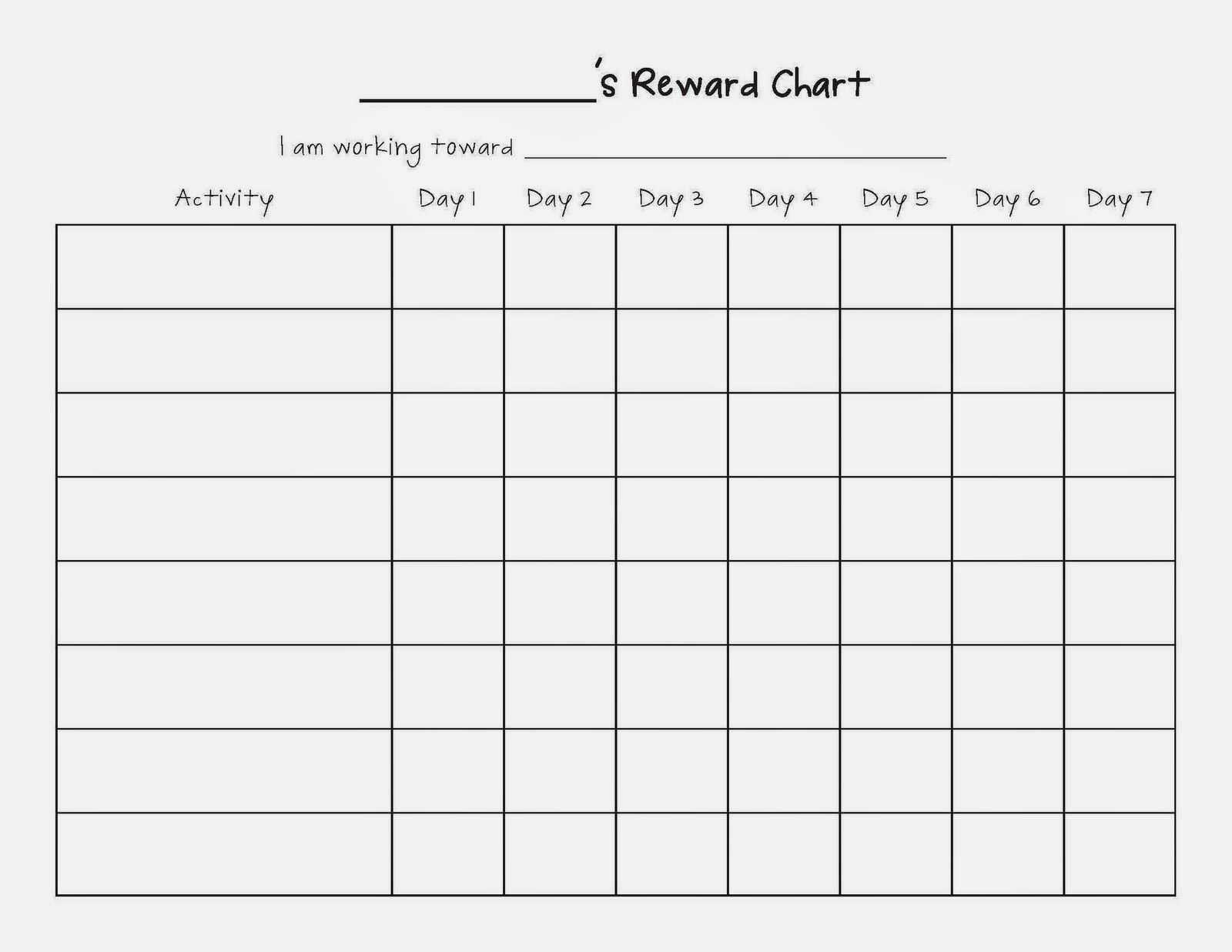 Image Result For Blank Sticker Charts | Reward Chart Intended For Blank Reward Chart Template