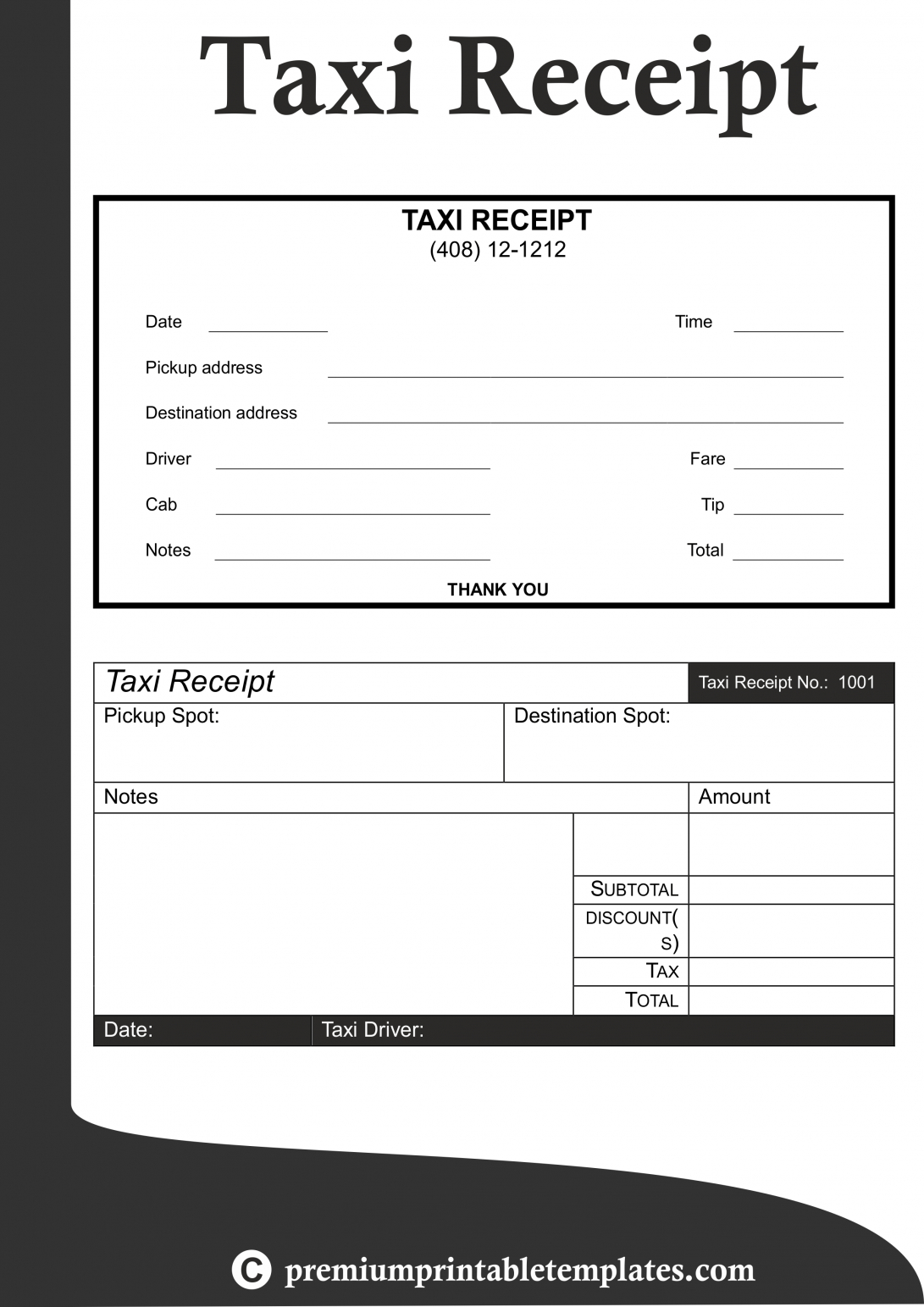 Images Of Receipt Taxi Templates Letter Affidavit Sample An pertaining to Blank Taxi Receipt Template