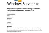 Implementing And Administering Certificate Templates pertaining to Certificate Authority Templates