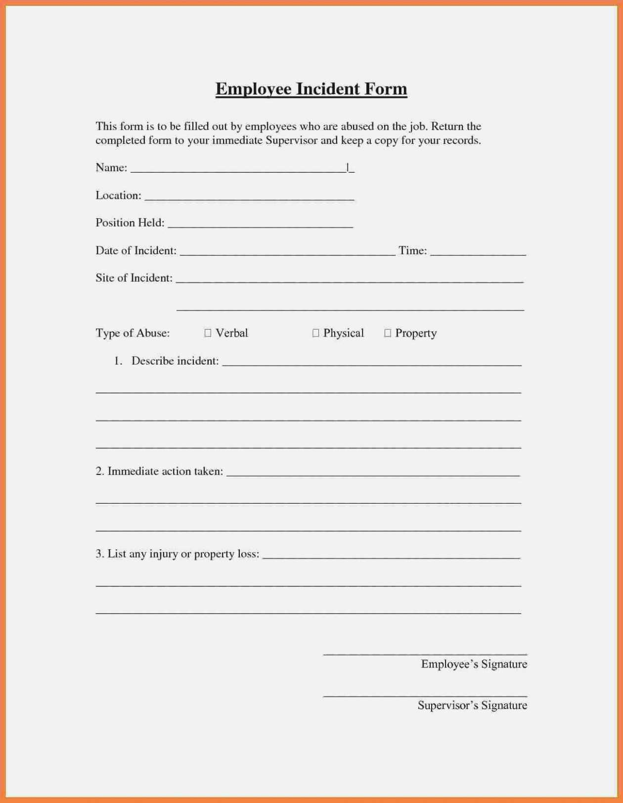 Incident Report Letter Sample In Workplace | Manswikstrom.se regarding Ohs Incident Report Template Free