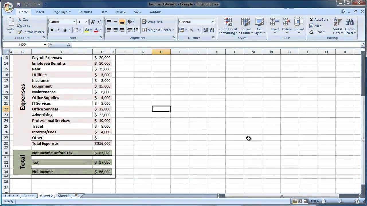 Income Statement Template Excel | Template Business In Financial Reporting Templates In Excel