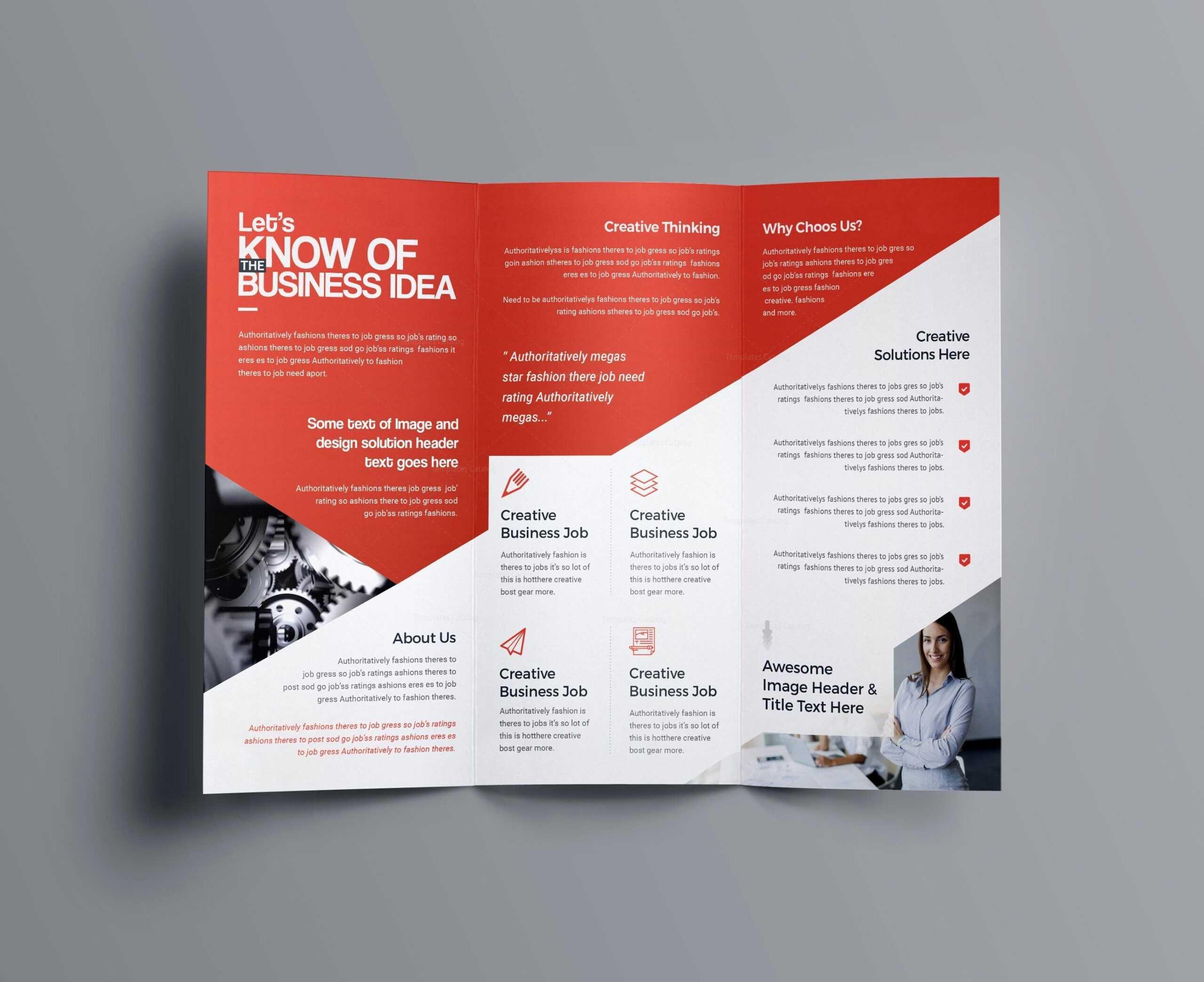 Indesign Bi Fold Brochure Template Free A4 Bifold Download for 2 Fold Brochure Template Free