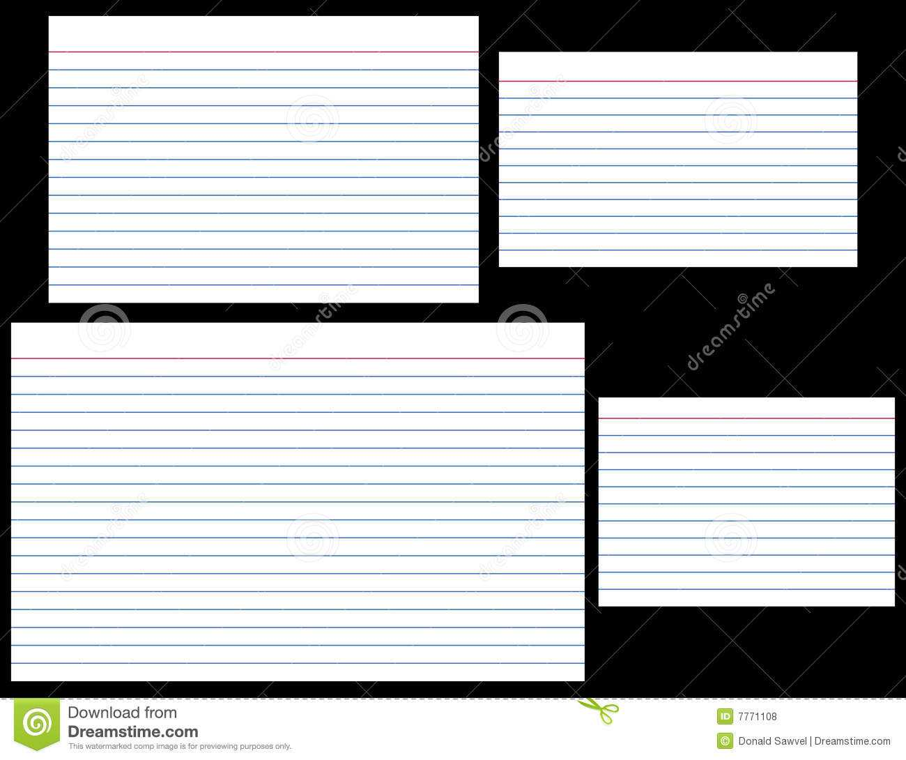 Index Cards Stock Vector. Illustration Of Stationery, Lined Intended For 5 By 8 Index Card Template