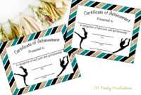 Instant Download – Gymnastics Award – Gymnastics Certificate – Printable  Gymnastics Award – Sports Achievement – You Print – Gymnastics Meet pertaining to Gymnastics Certificate Template
